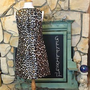 J. Crew Dresses - J Crew Leopard Print A Line Dress